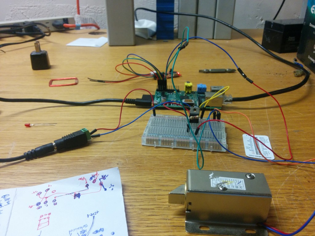 Solenoid,circuit, raspberry pi, rfid reader