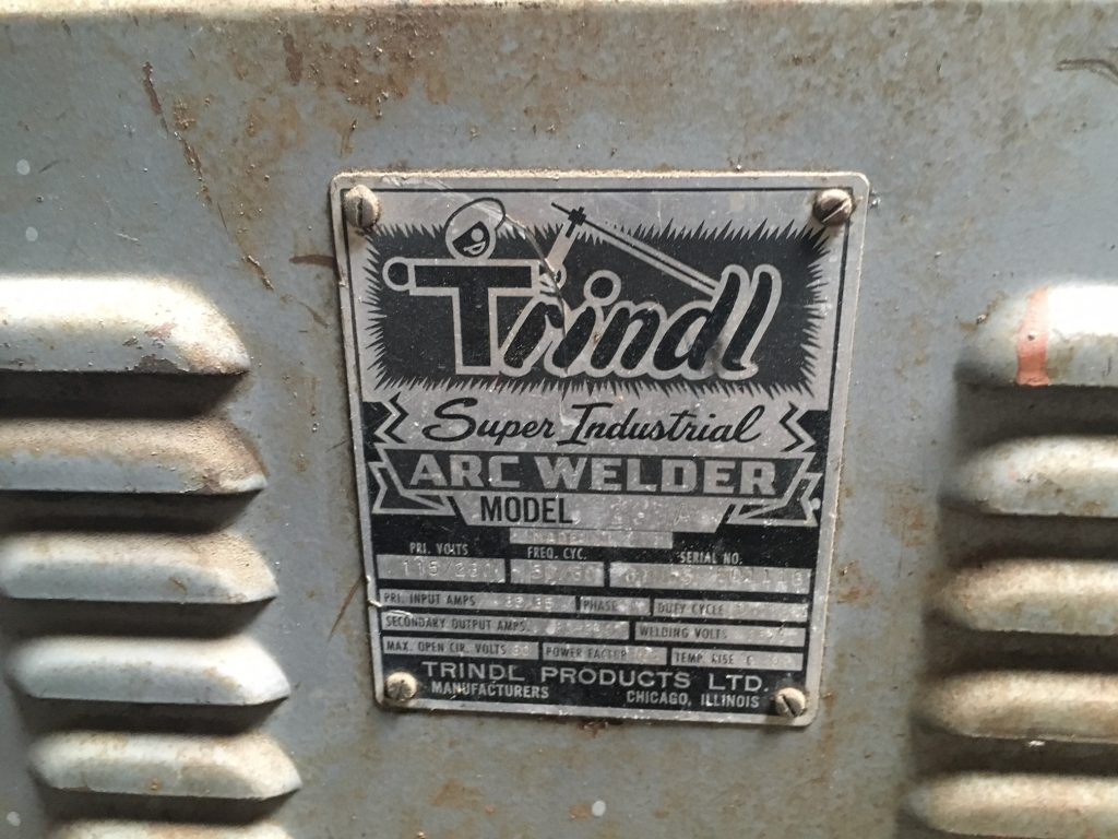 Trindl Stick Welder Label